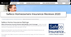 Safeco Homeowners Insurance